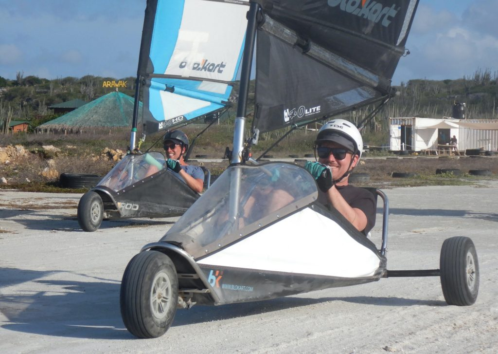 visit Bonaire and experience the thrill of landsailing
